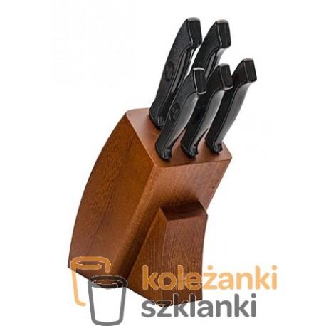 Zestaw noży kuchennych Gerpol Onyks  - 5 szt. w bloku
