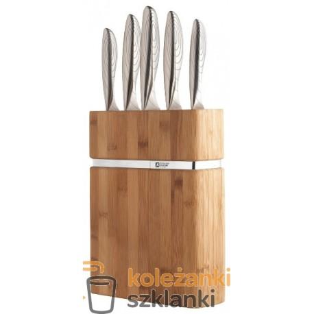 Zestaw noży kuchennych Amefa (Richardson Sheffield) Forme R011 - 5 szt. w bloku bambusowym
