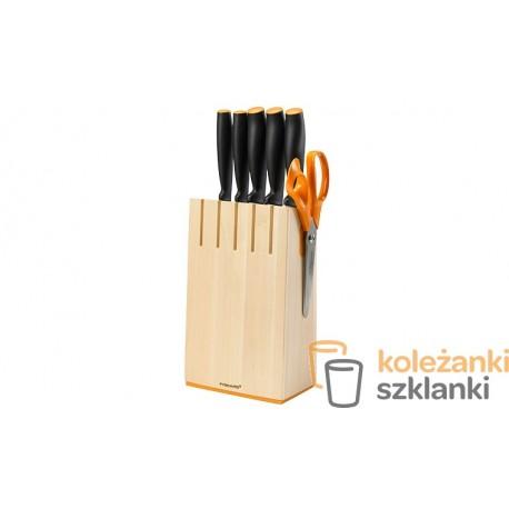 Zestaw noży kuchennych Fiskars Funcional Form 1014211 - 5 szt. w bloku