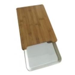 Deska kuchenna bambusowa z szufladą 38 cm WAK