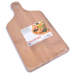 Deska kuchenna bambusowa z rączką 40 cm WAK