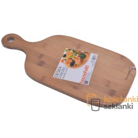 Deska kuchenna bambusowa owalna z rączką 43 cm WAK