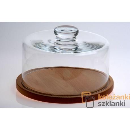 Deska okrągła z kloszem szklanym 28 cm EDW