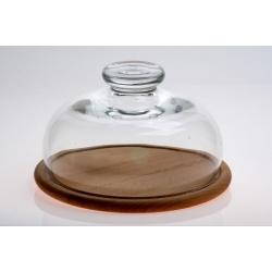 Deska okrągła z kloszem szklanym 25 cm EDW