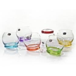 szklanki Crazy  colours kpl.6szt 390ml