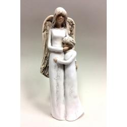 Anioł Stróż z dziewczynką - 29 cm