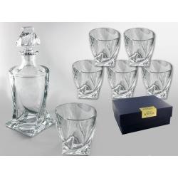 Karafka i szklanki do whisky  Bohemia QUADRO - 7el.