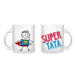 Kubek SUPER TATA 250 ml Sonia szkło satyna Dzień Ojca