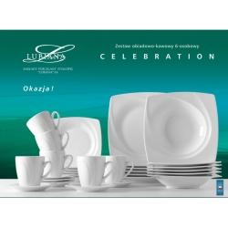 Komplet naczyń dla 6 osób biała porcelana 000e Lubiana Celebration 30 el.