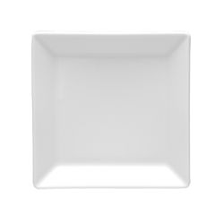 Talerz płytki deserowy kwadratowy biały 000e Lubiana Classic 13 cm / 13 cm (2528)