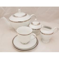Serwis do herbaty na 12 osób VICTORIA PLATIN 27 el. (1004)