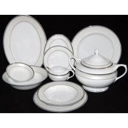Serwis obiadowy na 12 osób Opal Agawa Platin 43 el. (0678)