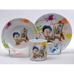 Komplet talerzy dla dzieci 3 el. Lubiana 6479 garnitur dziecięcy komplet