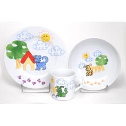 Komplet talerzy dla dzieci 3 el. Lubiana 3991 garnitur dziecięcy komplet