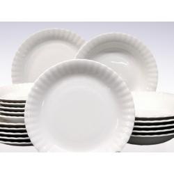 Komplet talerzy biała porcelana 18 el. Iwona Chodzież 6/18