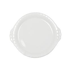 Talerz do ciasta 24 cm biały Iwona Chodzież