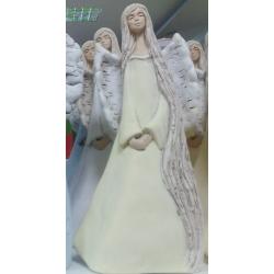 Figurka gipsowa Anioł Anielica długowłosa 36cm 605