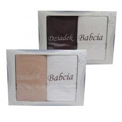 Komplet ręczników BABCIA DZIADEK 2 szt 140 cm * 75 cm