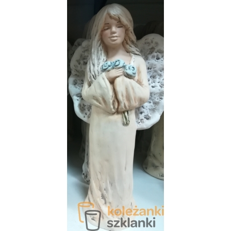 Figurka Anioł gipsowy Anielica koronkowa stojąca (020)