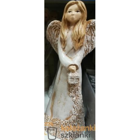 Figurka Anioł z latarnią Nina - aniołek gipsowy (8005)