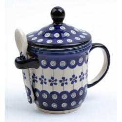 Zestaw zaZparzacz do ziół z łyżeczką Ceramika BOLESŁAWIEC 8 GU-9004 GU-11752