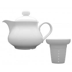 Lubiana Wersal imbryk czajnik z wkładem 400 ml biały 000e (7802)