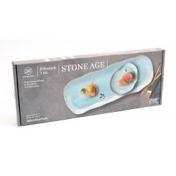 Lbiana Stone Age ceglasty półmisek/taca 35x13,5cm 6630M