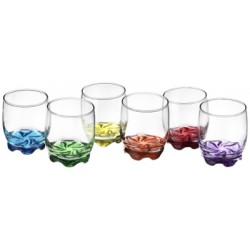Glasmark Krosno szklanka 250 ml malowany spód mix kolorów 6szt)