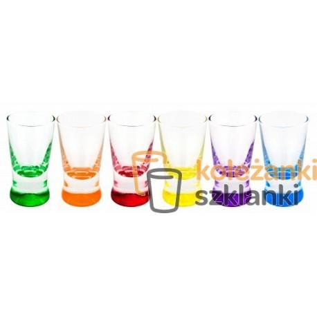 Glasmark Krosno kieliszki kolorowe dno mix 6 sztuk