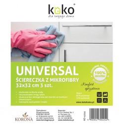 Ścierka mikrofibra a3 Universal 32x32 KO-4244