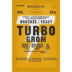 drożdże gorzelnicze TURBO BROWIN 24h-180g