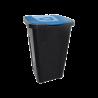 Pojemnik na śmieci do sortowania 50L czarno-niebieski Keeep