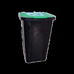 Pojemnik na śmieci do sortowania 50L czarno-zielony Keeep