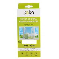 siatka do okna przeciw owadom 100x100cm biała 41702