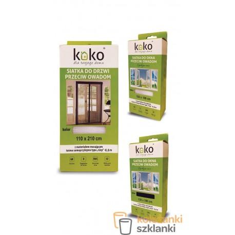 siatka do okna przeciw owadom 150x180cm czarna 4170
