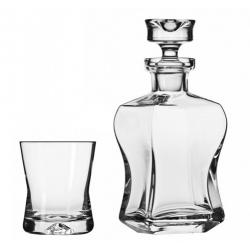 Komplet karafka + 6 szklanek 290 ml do whisky KROSNO LIFE STYLE