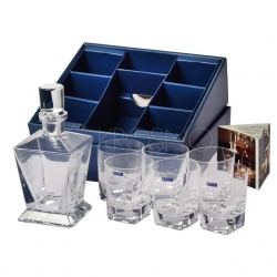 Komplet karafka + 6 szklanek 280 ml do whisky KROSNO CARO